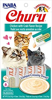 INABA Friandise Liquide pour Chat Saveur Poulet/Crabe 50 g
