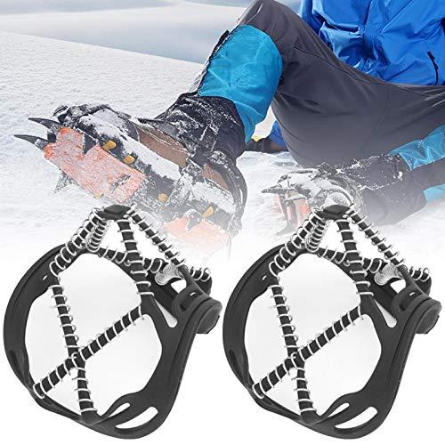 SALUTUYA Agarres de Acero Inoxidable para Nieve y Hielo Ligweight Portable Outdoor Ice Snow Grips Agarres para Nieve y Hielo Firme Duradera para Calzado, Botas para Caminar, Trotar, Escalar,