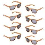Neon Colors Party Favor Supplies Unisex Sunglasses Pack of 8 (Orange)