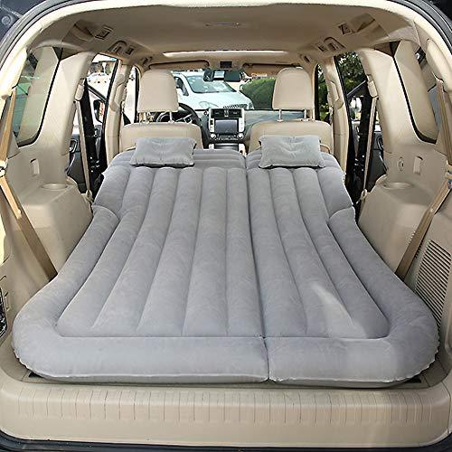 Vinteky SUV Colchón Inflable para Coche Cama con Bomba y Almohadas, Colchon Hinchable de Coche para Descansar, Viajes, Camping, Piscina, Parque, Playa, Patio Trasero (gris)