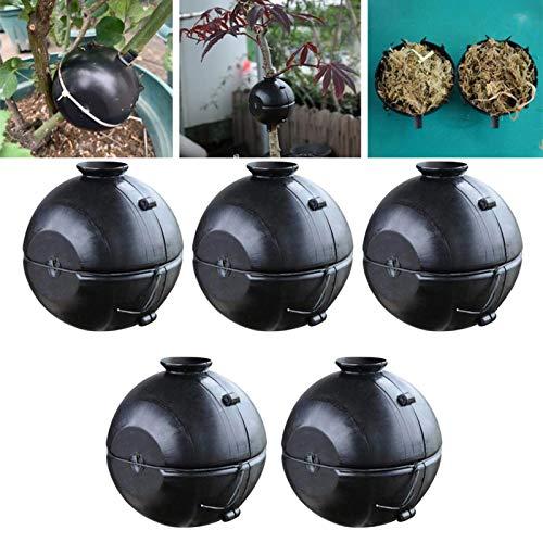 5-teilige Pflanzenwurzelbox, wiederverwendbare Pflanzenwurzel-Wachstumsbox, Pflanzenwurzelvorrichtung, Hochdruck-Pfropfbox - Pflanzenpflanzer für Innen- und Außenanlagen