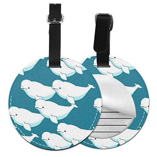 Beluga Whale - Etiquetas Redondas para Equipaje de Mano, Acc