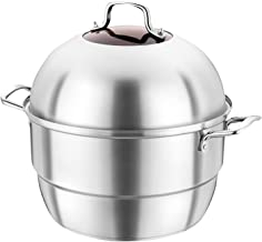 Grote Capaciteit Stoomboot Pot, 4-delige Steamer Pot Set, Stoomboot Koken Pot Set Met Boog Ontwerpdeksel, Compatibel Met A...