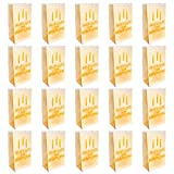 Kurtzy linternas de papel con Texto Feliz Cumpleaños en Alemán (Pack de 20) - Farolillo de Papel Ignifugo - Bolsas Papel Velas para Decor Cumpleaños Interior Exteriores - Usar con Vela LED o Regular