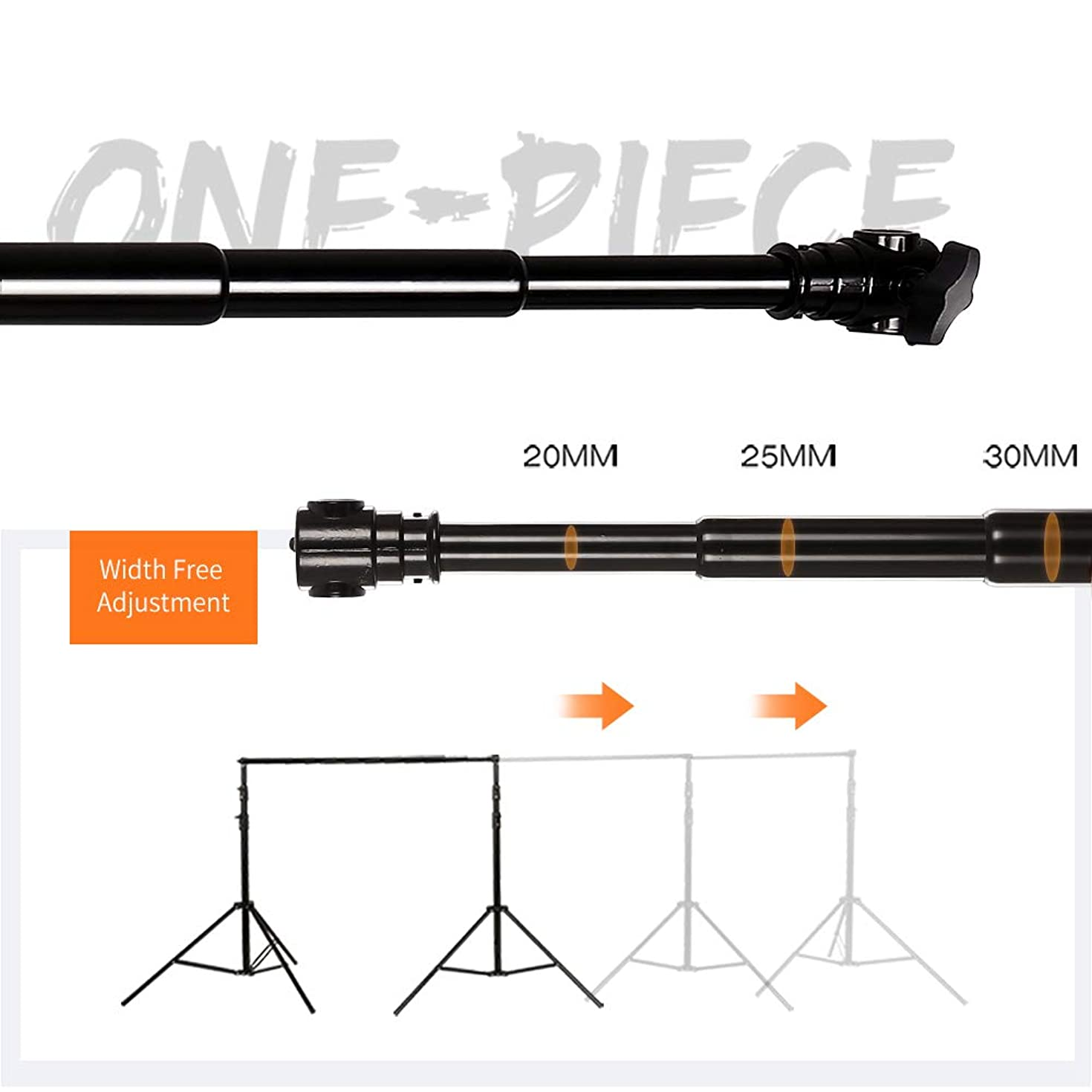 SH Telescopic Tube Background Support Pole and Stand, 9 x 10FT Heavy Duty Background Stand Backdrop Support System Kit with Carry Bag for Photography Photo Video Studio