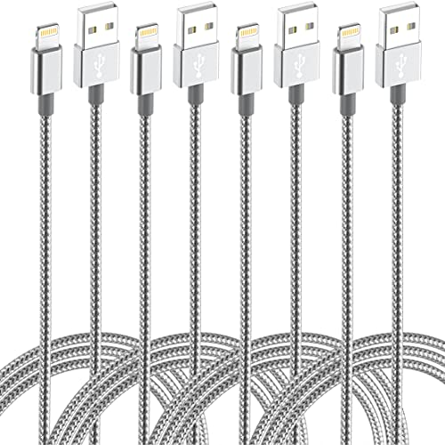 iPhone Lightning Cable Long Power Cord Certified 4Pack(10ft 6ft 6ft 3ft) Braided Nylon
