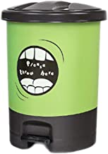 Trash can Pedal Plastic Trash can Garbage Container Bin for Bathrooms Kitchens Home Offices Shatter Resistant Plastic Recy...