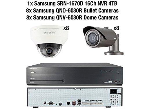 Samsung 2MP CCTV Beveiligingspakket 16 Camera Full HD 1080p IP PoE + 4TB NVR Kit