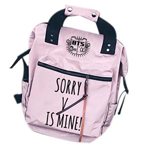 Tomwell Unisex Bangtan Rucksack is Mine Schultasche Bag Reisetasche Notebooktasche Suga Jimin Jin Jung Jook J-Hope Rap-Monster Rosa V Einheitsgröße