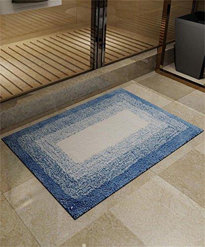 ZHANWEI Tapis Tapis de Sol Tapis de Sol Simple et Moderne Tapis de Sol Anti-dérapant et Absorbant (Couleur : Bleu, Taille : 40 * 60cm)