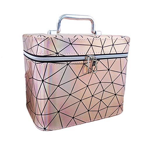 JLYLY Sac Cosmétique Femelle Portable De Grande Capacité Bagage À Main WC Stockage De Cas Cosmétique,Flesh,S