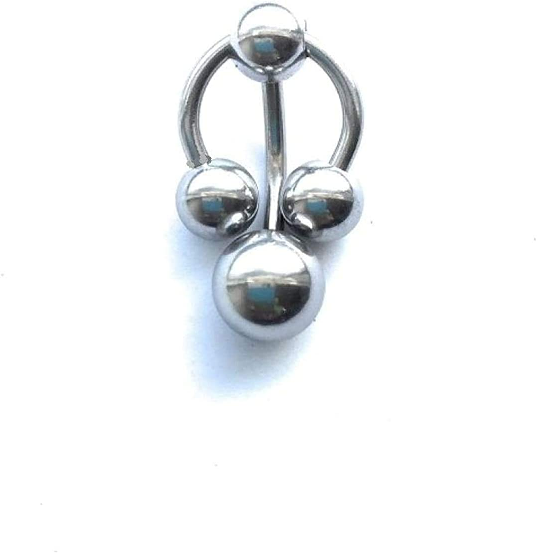 KITCHEN TOOLS Hood Piercing Jewelry - Surgical Steel VCH Jewelry for VCH Piercing (Horseshoe & Barbell Combo)