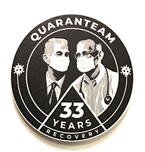 Price comparison product image Recovery Line 33 Year AA Quarantine Masked Bill & Bob Alcoholics Anonymous Chip