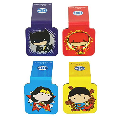 Ata-Boy DC Comics Justice League Chibi Set of 4 1' Magnetic Page-Top Bookmarks