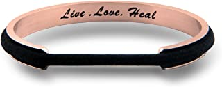Live Love Heal Cuff Bracelet Hair Tie Bracelet Nurse Bracelet RN Jewelry Nurse Graduation Gift