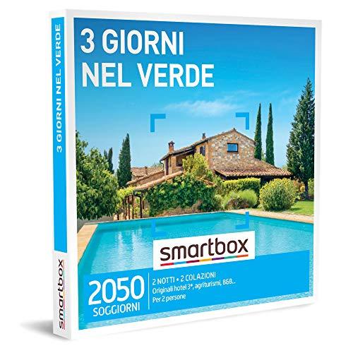 Smartbox -Tre Giorni Nel Verde - Cofanetto Regalo Coppia, 2 Notti con Colazione per 2 Persone, Idee Regalo Originale