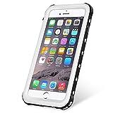 KYOKA iPhone6 iPhone6s 防水ケース 指紋認証対応 防水 耐震 防塵 耐衝撃 IP68 アイフォン6s 防水ケース 防水カバー iPhone6/6s, ブラック