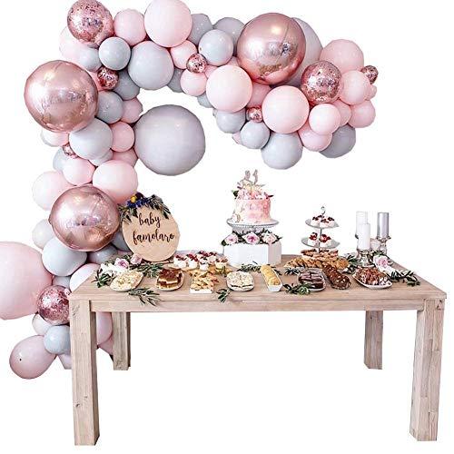 Macarons Boog- en slingerset, pastelballonnen, metalen latex ballonnen, 1 stuks bindgereedschap en lijm voor meisjes, verjaardag, baby, douche bacheloret, party, bruiloftsdecoraties