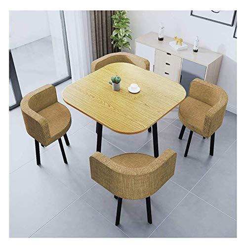 Mesa de comedor Balcón Cafe Hotel Corredor zona de ocio de recepción 90 cm Tabla de madera con capacidad for 4 personas, color de la pantalla sencilla tabla Ocio Silla Y Set 4 Cocina casera creativa d