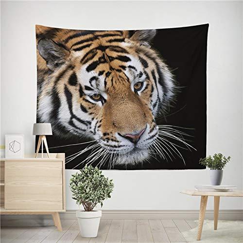 Tapiz de tigre león colorido tapiz de animales colgante de pared león tigre impresión decoración tela de fondo A11 150x200cm
