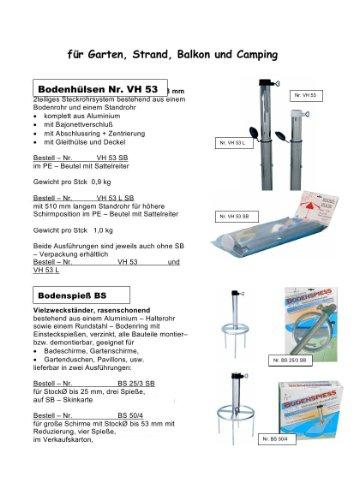 Acier – Pied de parasol – 55 mm Ø – avec douille d'extension – La Stabielo® soleil parapluie Porte-brosse – Fabriqué en Allemagne – Douille en acier – Douille de sol VH 55 L – pour bâtons de jusqu'à Ø 55 mm – Diamètre 1,6 mm – Support pour parasol mural Holly produits Stabielo® – Innovations fabriqué en Allemagne – Holly Sunshade® – Prix de – Produits fabriqué en Bade Wurtemberg de