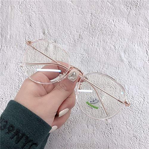 SHENSHI Gafas Luz Azul,Montura Ovalada Unisex Montura Mixta Gafas Anti-Azules, Antideslumbrante Aliviar La Fatiga Ocular, Gafas para Mujer/Hombre, Accesorios para Estudiantes De Oficina, Transparente