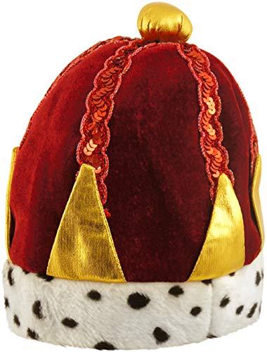 Fancy Me Femmes Hommes Adulte Rouge King Queen Costume Déguisement Chapeau Couronne Accessoire - Rouge, Rouge, One Size