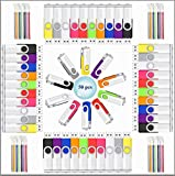 USB Flash Drive 2GB 50 Pack Memory Stick Wholesale with LED Indicator and lanyards by Viewfun (2GB, 50PCS-Multicolors)