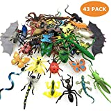 BIG VALUE PACK OF 43PCS BUGS: You will receive a big value pack of 43pcs fake bugs/insects set, including scorpion, centipede, mantis, locust, longicorn, spider, bee, fly, ant, caterpillar, ladybird, dung beetle, leech, cockroach, cricket, dragonfly,...