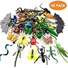 kockuu 43 Pack Fake Bugs Mini Realistic Insects Toys for Kids Toddler Birthday Children's Birthday Gift Bugs Insects