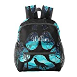Wlof Paw Forest Personalized Name Backpack Book Bag Waterproof Sport Travel Day Pack