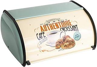 Sziqiqi Boîte à Pain Vintage Rangement Comptoir Bac à Pain 33cm avec Roll-Top et Garniture de Protection pour Garder Les P...