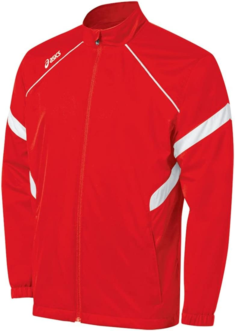 Asics Men's Surge Warm-Up Special sale item Jacket Maroon White New life
