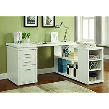 Coaster Yvette White Executive Desk