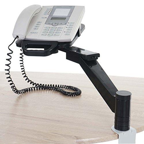 Mendler Bras de téléphone T555, Porte-téléphone, Bras pitovant, Crochet de Table, Noir