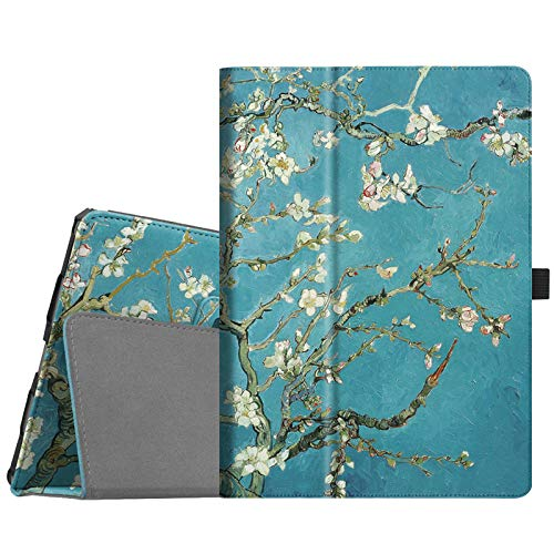 "Fintie Folio Case for iPad Air (3rd Gen) 10.5"" 2019 / iPad Pro 10.5"" 2017 - [Corner Protection] Premium PU Leather Smart Folio Cover with Pencil Holder, Auto Sleep/Wake, Blossom"