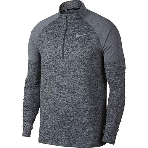 Nike Men's 2.0 Element 1/2 Zip Running Top (Dark Grey/Heather, Medium)