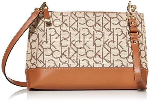 High quality vegan leather 1 zip pocket, 1 slip pocket, 1 zip pocket, 2 slip pockets Adjustable crossbody strap