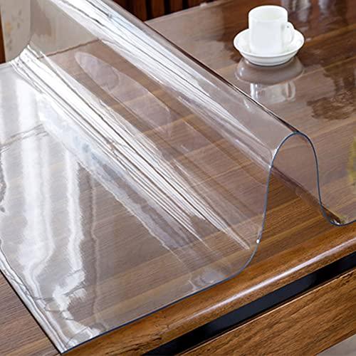 ZYFA Protector De Cubierta De Mesa Transparente, Mantel Transparente de PVC,Manteles Transparentes para Computadora De Oficina, Escritorio, Mesa De Comedor, Protect 1mm, tamaño Personalizado