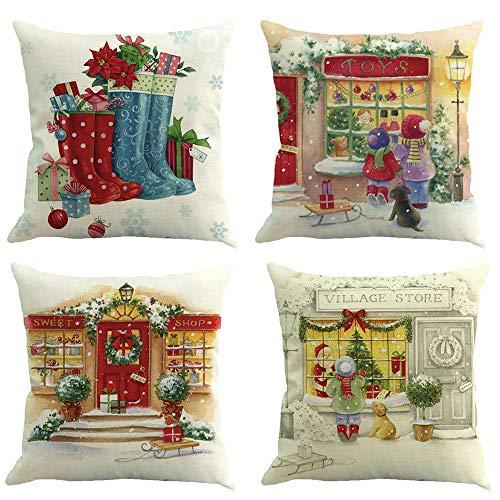 Dragon868 Kissenbezug 4pc Cotton Leinen Sofa-Auto zu Hause Taille Kissen Deckel werfen Kissen Koffer,45cmX45cm