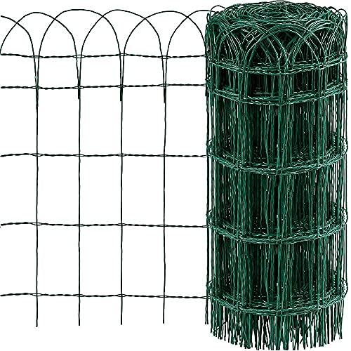 Amagabeli Valla para Jardín 0.65Mx25M Metal Valla Decorativa Hierro para Jardín Metal Bordes para Césped de Jardín lecho de Flores de protección Vegetal HC02