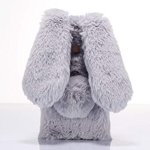 ZYQ 3D Rabbit Style Funda Caso TPU Silicona Case para Umidigi One MAX Gel Shell Carcasa Protecci¨®n Cover Etui Gris