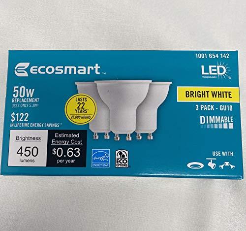 50W Equivalent Bright White MR16 GU10 LED Light...