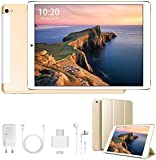 10.1 Inch Tablet Android 9.0, Quad Cord, 32GB ROM 3GB RAM 128GB Scalable, WiFi, GPS, Cameras, Dual SIM, 1280800 HD IPS Screen - 10 Inch Tablet