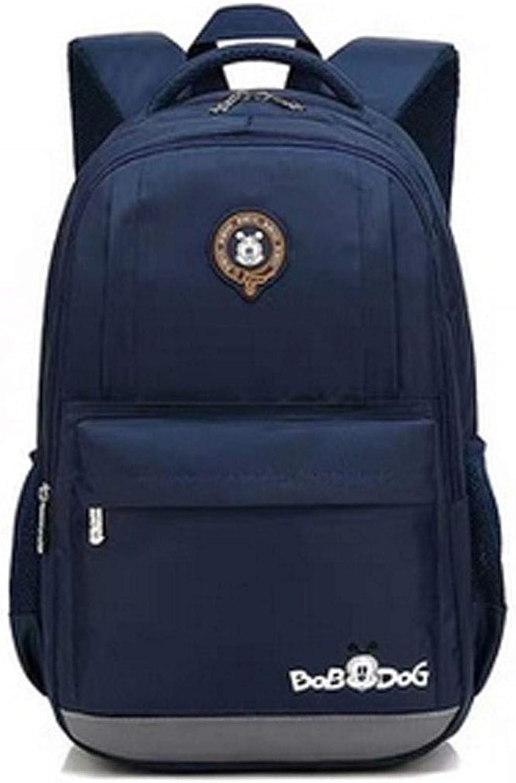 Jiansheng Schultasche, Studententasche, verschleifester wasserdichter Rucksack, geeignet für Schüler der Klassen 1-9, 27  12  40cm, rot, schwarz (Farbe   Royal Blau, Größe   27  12  40cm)