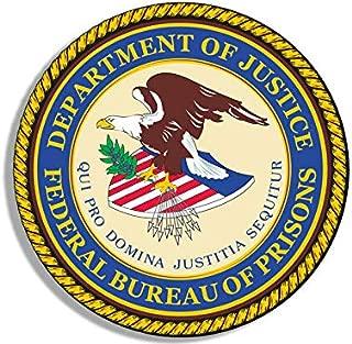 MAGNET 4x4 inch ROUND Federal Bureau of Prisons Seal Sticker -us fbp logo guard justice Magnetic vinyl bumper sticker sticks to any metal fridge, car, signs