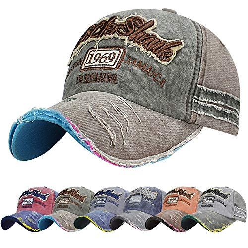 Tuopuda Cotton Baseball Cap Snap Back Edge Trucker Motors Racing Motorcycle Biker Hat (Coffee-2)