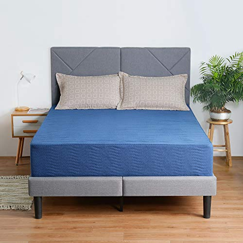 Olee Sleep 8 Inch New Safe Comfort Memory Foam Mattress, Blue, Twin