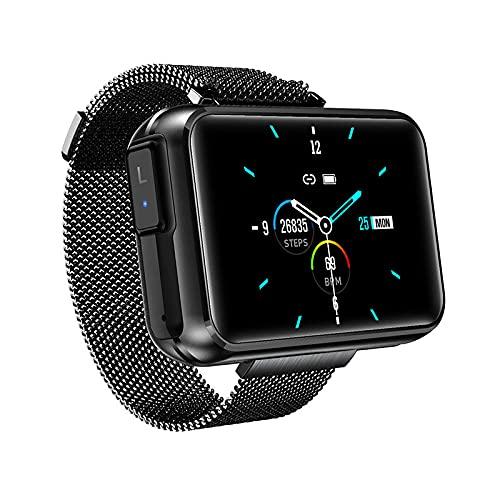 LSQ Auricolare Bluetooth Wireless Smart Watch T91 Bluetooth Call 1.4 Big Fai da Te Schermo Meteo Smartwatch per Telefono Android iOS,B