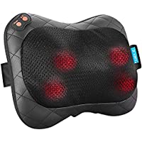 JYMY Electric Massager Pillow with Heat and Removable Magic Sleeve for Waist/Shoulders/Legs Relaxation